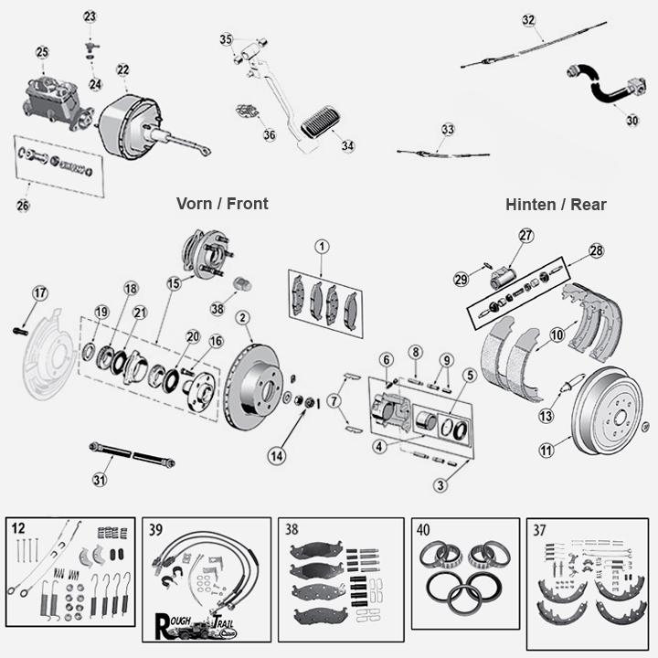 renegade station jeep bremse trommel scheibe kl tze. Black Bedroom Furniture Sets. Home Design Ideas