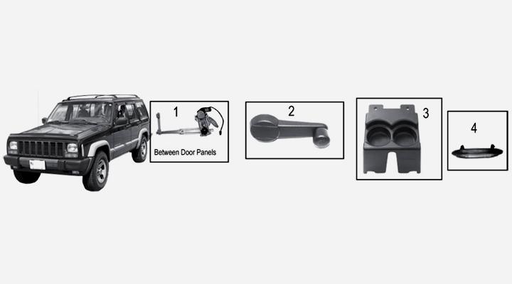 jeep cherokee xj interieur. Black Bedroom Furniture Sets. Home Design Ideas