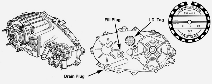 jeep transfer case specifications