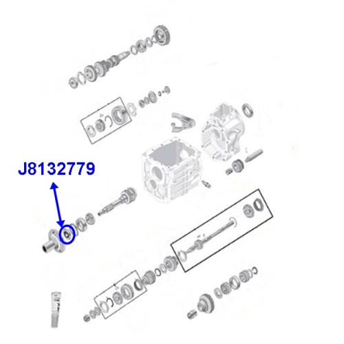 Jeep CJ CJ5 CJ7 CJ8 Simmerring Eingangswelle Fuer T4 Oder T5 Schaltgetriebe 82 86 as well 1aki0 1998 Grand Cherokee 4x4 Showing Code P0720 I Ve likewise 2000 Jetta Speed Sensor Location furthermore Nv4500 For Sale Used besides AX4. on jeep manual transmission input shaft html