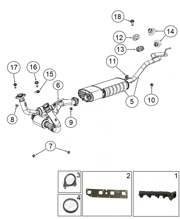Jeep Grand Cherokee Wh Wk Exhaust Catalytic Converter