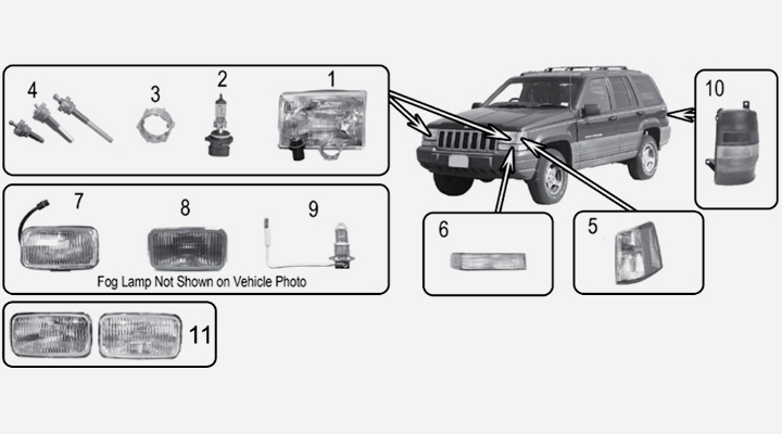 lights for jeep grand cherokee zj    zg