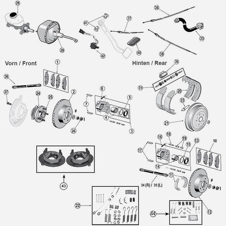 BOSCH 0986494348 Bremsbeläge Bremsklötze für Hinten Grand Cherokee ZJ 2.5 TD 4x4