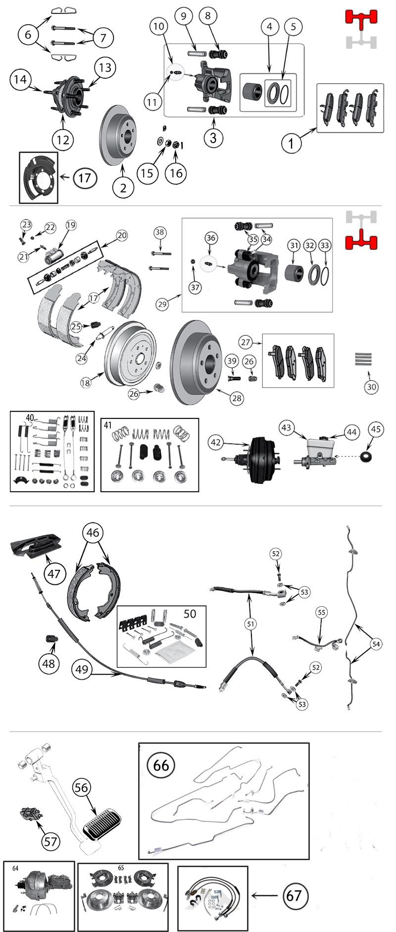 brake parts for jeep wrangler tj