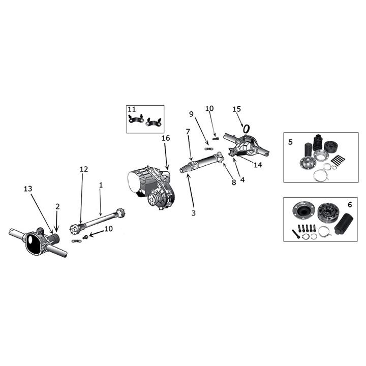 Propeller Shaft & U-Joint for Jeep Grand Cherokee WJ / WG