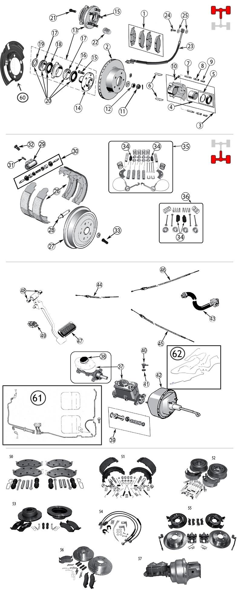 Bremsscheibe Vorderachse Bremse Jeep Wrangler YJ 87-89