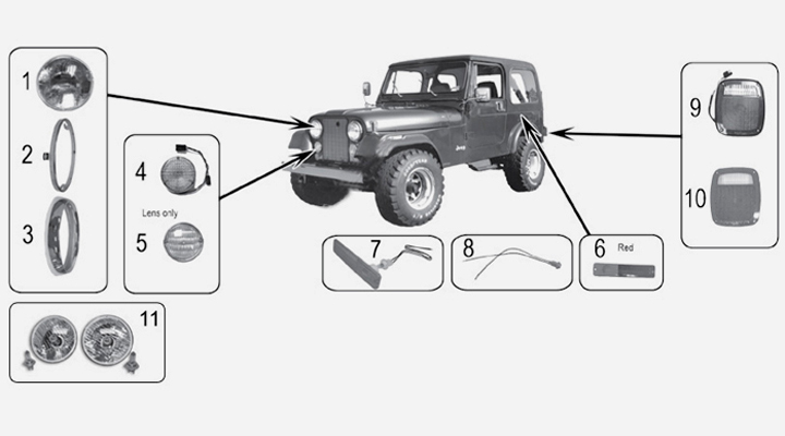 Jeep CJ Handbremsseil hinten links Raybestos 76-80