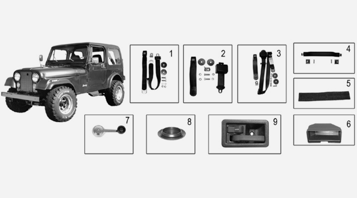 body parts interior for jeep cj
