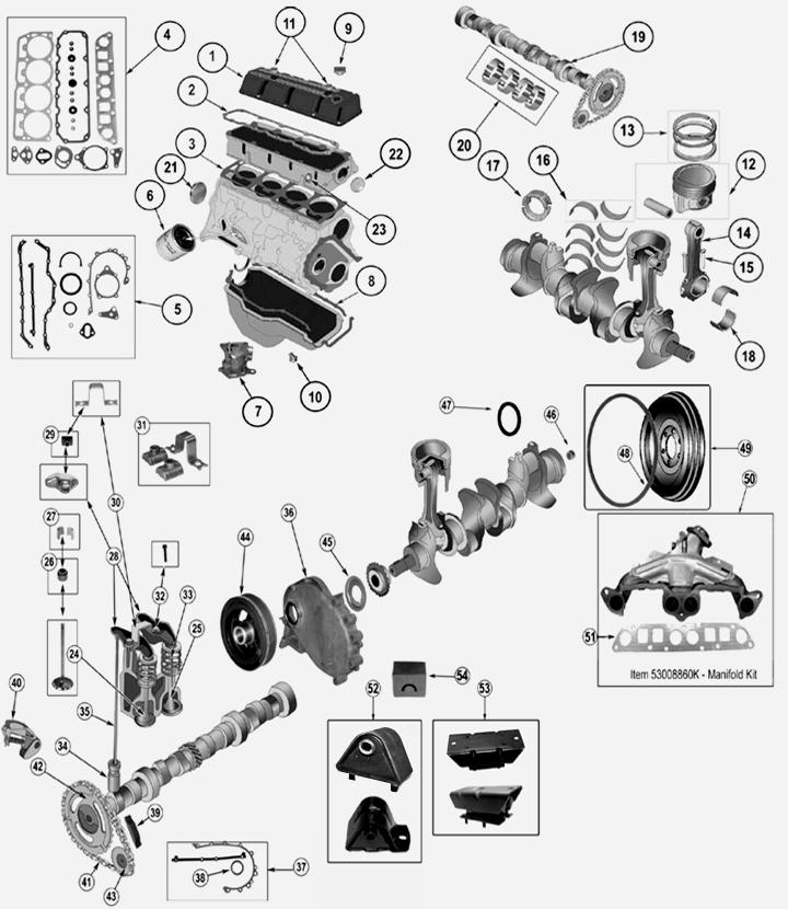 jeep cherokee xj 2 5 l 4 zyl benzin motor. Black Bedroom Furniture Sets. Home Design Ideas