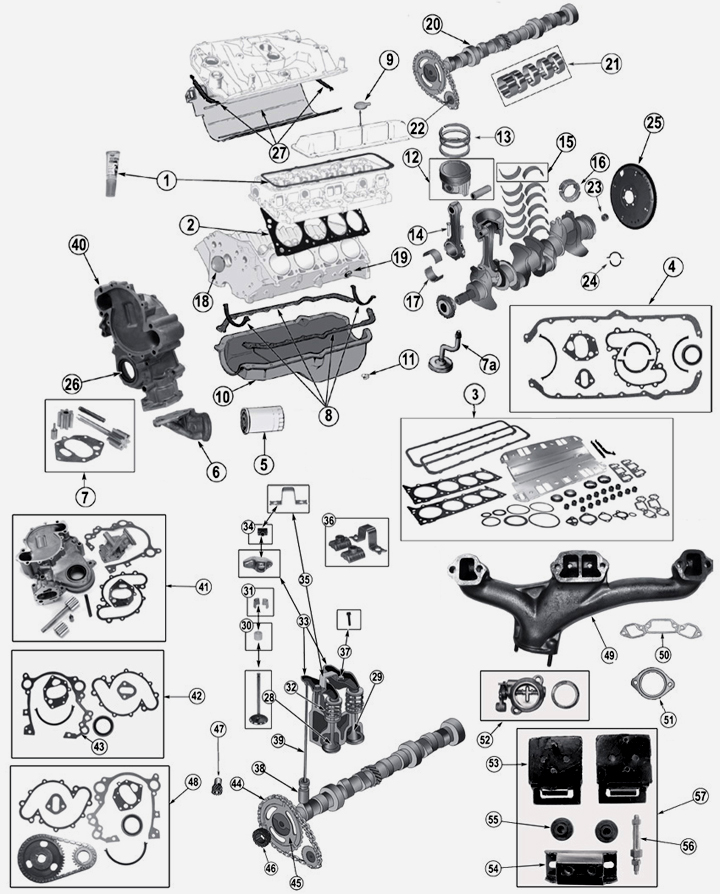 Power Steering Pump Bracket Kit in addition 24077 258 Vacuum Hose Question as well Dodge Ram Hood Latch Diagram as well Chevy Hei Firing Order Diagram in addition HP PartList. on amc 304 engine