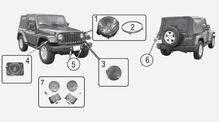 Beleuchtung für Jeep Wrangler JK