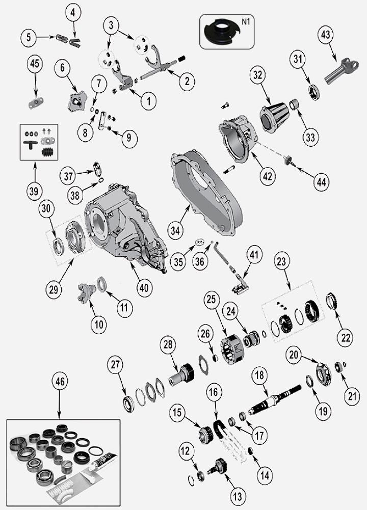 np231 verteilergetriebe f r jeep cherokee xj. Black Bedroom Furniture Sets. Home Design Ideas