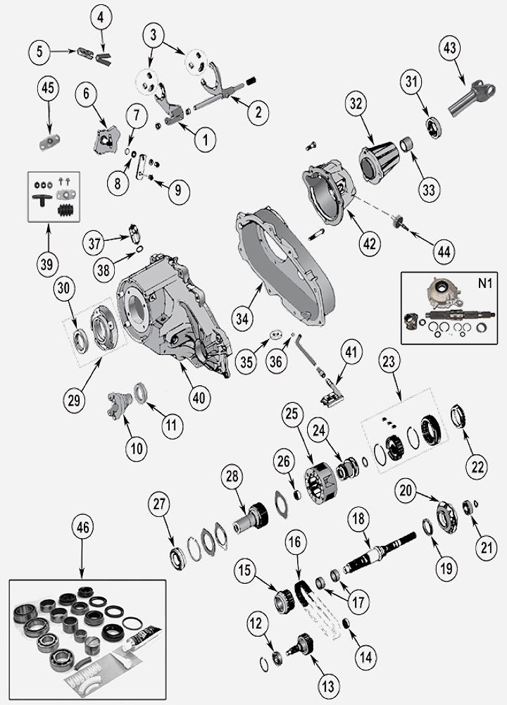np231 verteilergetriebe f r jeep wrangler yj. Black Bedroom Furniture Sets. Home Design Ideas