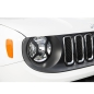 Preview: Jeep Renegade BU Black textured Headlight Euro Guards Set Rugged Ridge 15-17