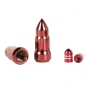 "Preview: Jeep Wrangler TJ JK Set red Bullet Lug Nut and Valve Stem Cap Kit 1/2""- 20 06-17"