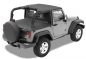 Mobile Preview: Jeep Wrangler JK 2türer Header Bikini Top Targa Style Black Diamond Bestop 07-09