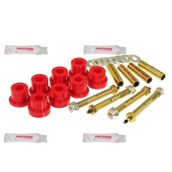Jeep CJ red Polyurethane Leaf Spring Greaseable Main Eye Bushing Set Greaseable Prothane 76-86