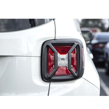 Jeep Renegade BU Black textured Tail Light Euro Guards Set Rugged Ridge 15-17