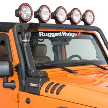 Jeep Wrangler JK 3,8 + 3,6 ltr. XHD Modular Snorkel Kit Rugged Ridge 07-17