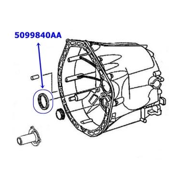 Jeep Wrangler JK frontcase Input Seal NSG370 6-Gear manual Transmission  07-17