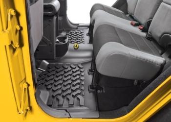 Jeep Wrangler JK Fußmatten Set Fußraumwannen vorne Bestop 07-13