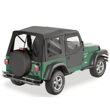 Jeep Soft Tops >> Jeep Wrangler Tj Supertop Soft Top With 2 Piece Full Fabric Doors Black Denim Year 96 06