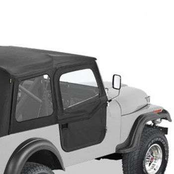 Jeep CJ CJ7 2-Pieces Supertop Doors Black Crush Bestop 76-80