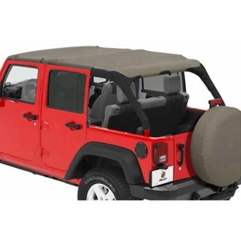 Jeep Wrangler JK 4türer Header Safari Bikini Top Black Diamond 07-09