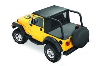 Jeep Wrangler TJ Halftop Bikini Top Windjammer Duster For Hardtop Bestop  96 02