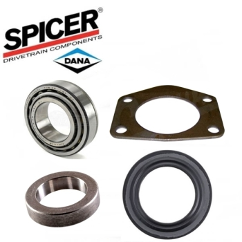 Jeep Wrangler YJ one Wheel Bearing & Seal Kit with Axle Seal Retainer Dana  44 rear axle Spicer 87-95