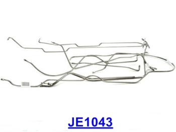 Jeep Wrangler TJ 7pcs. Stainless Steel Brake Line Kit without ABS 96-06