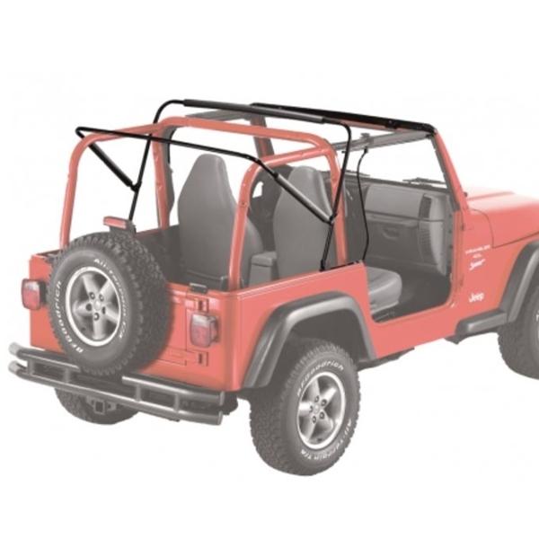 Jeep Soft Tops >> Jeep Wrangler Tj Supertop Soft Top With 2 Piece Full Fabric Doors Khaki Denim Year 96 06