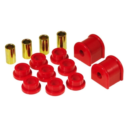 Jeep Wrangler TJ red Polyurethane rear Sway Bar Bushings Ø 13mm & End Links Prothane 96-06