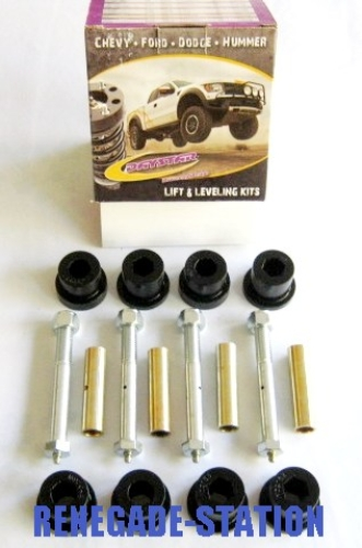 Jeep CJ Greaseable Bolt and Bushing Kit Front and Rear Main Eyes Only 76-86