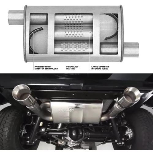 Jeep Jk Muffler >> Jeep Wrangler Jk 3 8 3 6 Ltr Premium Super Turbo Muffler Dynomax 07 18