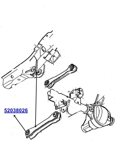 Jeep Grand Cherokee Zj Zg Control Arm Bushing Rear Lower To Frame 93 98
