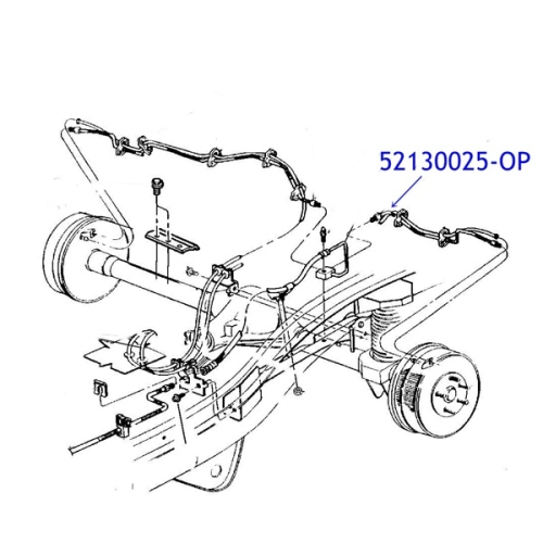 Jeep Cherokee Xj Bremsleitung Hinten Links Auf Achse 97 01