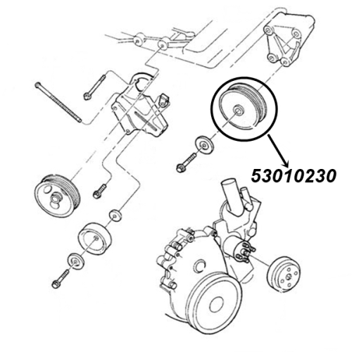 Jeep Wrangler Tj 40 Ltr Accessory Drive Belt Idler Pulley Ø 76mm Gates 9699: Jeep Wrangler 4 0 Engine Diagram At Hrqsolutions.co