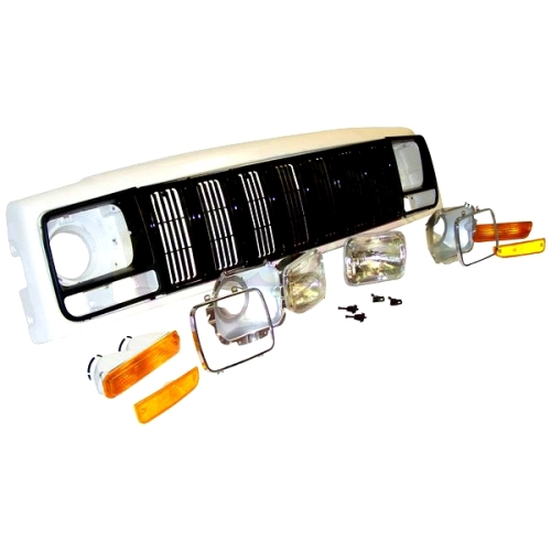 jeep cherokee xj front set frontmaske k hlergrill und. Black Bedroom Furniture Sets. Home Design Ideas
