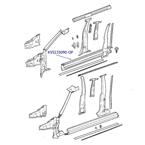 jeep cherokee xj seitenschweller schweller schwellerblech. Black Bedroom Furniture Sets. Home Design Ideas