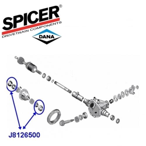 Jeep Cherokee XJ Differential Korblager Satz 4-teilig Dana 35 HA Spicer 84-01