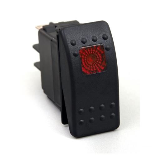 universal schalter kippschalter 3 polig rot beleuchtet f r. Black Bedroom Furniture Sets. Home Design Ideas