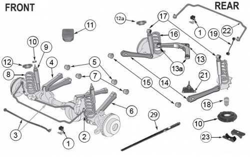 1997 jeep cherokee undercarriage diagram