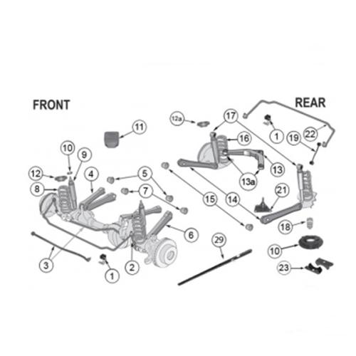 Führungsgelenk Traggelenk oben mitte Hinterachse Jeep Grand Cherokee WG Motoryzacja: Części WJ