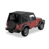 Jeep Wrangler TJ Supertop Softtop Verdeck inkl. Aufsteckfenster Black Denim Bestop 03-06